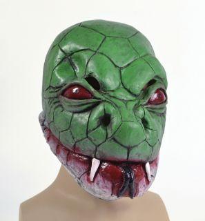 Green Snake Rubber Over Head Fancy Dress Mask Halloween Anaconda