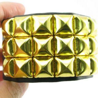 Pyramid Stud Leather Bracelet