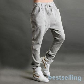 Mens Jogger Dance Sportwear Baggy Harem Pants Slacks Trousers Sweatpants