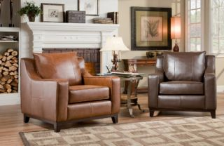 Soflex 28002 Avery Accent Leather Chair Tan