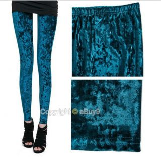 New Womens Velvet Sexy Soft Stretch Leggings Slim Fit Pants Sheer Tights Y341