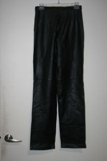 Julie Andrew Venus Black Leather Pants Italy 0 New