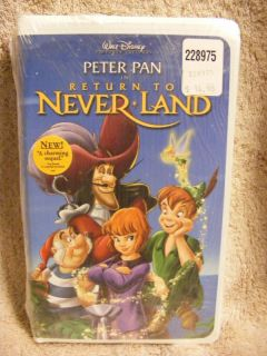 New Disney Peter Pan Return to Never Land VHS Movie