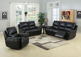 3pc Traditional Modern Electric Recliner Leather Sofa Set AC JAV S1