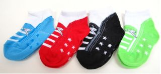 0 24M Bargain Baby Boy Girl Colourful Fake Shoes Socks Cheap Low P P
