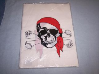12 Large Pirate Skull and Crossbones Loot Gift Bags Party Favors