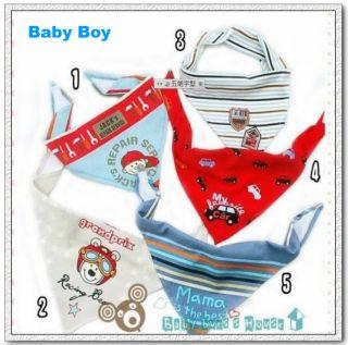 5pcs Baby Gir Boy Kid Bandana Bibs Saliva Towel Dribble Triangle Head Scarf