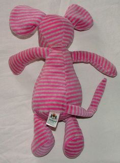 Jelly Cat Pink Gray Stripe Mouse Plush Stuffed Toy Animal Bon Bon Jellycat