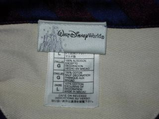 Walt Disney World Est 71 Rugby Style Embroidered Polo Golf Casual Shirt Blue