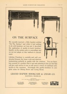 1918 Ad Grand Rapids Bookcase Chair Company Sideboard Original Advertising