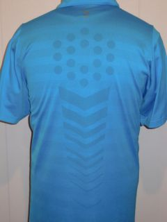 Puma Sports Lifestyle Turquoise Vent Design s Sleeve Casual Polo Golf Shirt XXL