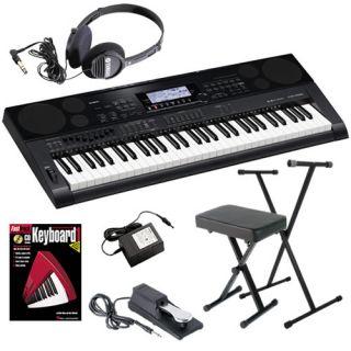 Casio CTK 7000 Portable Electronic Keyboard Home Essentials Bundle