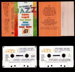 Los Grandes Del Jazz 43 Spain Cassette Sarpe 1981 Stephane Grappelli New