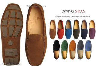 New Tobacco Snuff Brown Suede Designer Driving Shoe 8 Mens