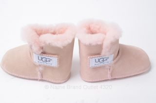 UGG 5202 Erin Sheepskin Infant Bootie s 6 12 MO Baby Pink Suede Shoe $50 New
