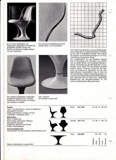 Herman Miller Stuhl Stühle Chair Spaceage 70ER Drehbar Orbit TH Panton ÄRA