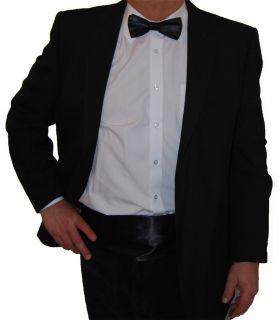 Italian Satin Cummerbund Bow Tie and Handkerchief Hanky Set New Hand Made