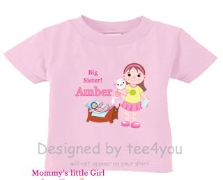Personalized T Shirt Big Sister Doll Any Name So Cute