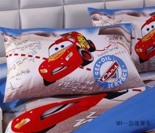 New Cool Speed Racer Cars Cartoon Quilt Cover Kids Duvet Bedding Sets 3pcs Boys
