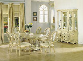 Cassandra 9 piece formal dining room set cherry finish w for Light wood formal dining room sets
