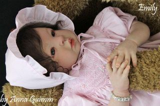 So Real Reborn Baby Doll Shyann Aleina Peterson Now Emily Big Size Girl 22""