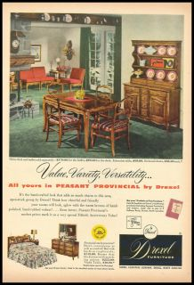 1953 Vintage Ad for Drexel Furniture
