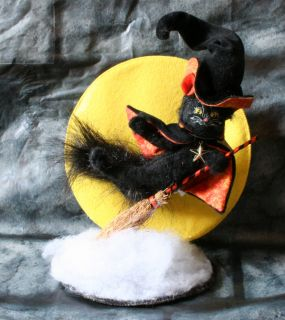Annalee Dolls Moonlight Ride Cat Halloween Witch Doll