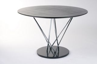 Stacy Contemporary Round Marble Base Dining Table 27046
