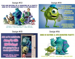 Monsters Inc University 2 Birthday Party Ticket Invitations Supplies Favors