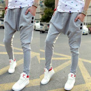 Men's Casual Sporty Hip Hop Dance Harem Baggy sweat Pants Trousers Slack R43 2