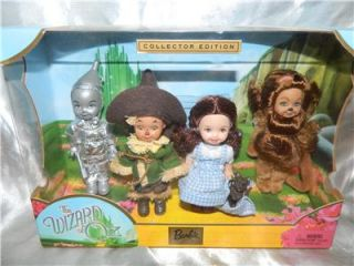 2003 Kelly Doll Friends The Wizard of oz Gift Set Dorothy Lion Scarecrow Tin Man