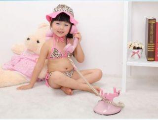 Kids Girls Leopard Swimsuit Swimwear Bathing Costume Tankini Swim Bikini AGE2 8Y