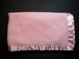 KB Koala Baby Pink Fleece Blanket w Matching Satin Edge Binding Babies R US Bru