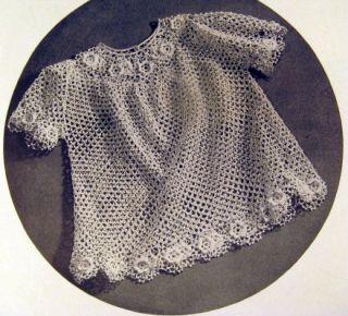 1943 Vintage Crochet Pattern Book Royal Society Baby Layettes