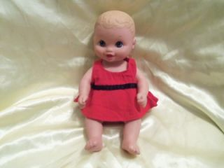 "1999 Lauer Toys Water Babies Baby Doll 9 5"" Horizon Group USA Animal Dress"