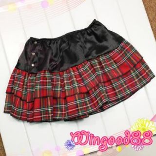 Sexy School Girl Plaid Skirt White Shirt Tie G String Cosplay Costume Lingerie