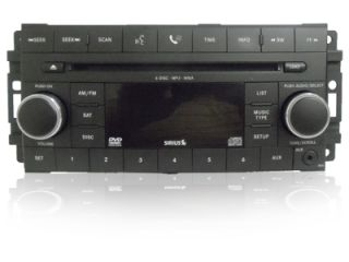 08 09 Jeep Dodge Chrysler Radio  6 CD Changer Player Sirius Satellite Aux Req
