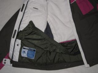 Girls Columbia Pink Brown Ski Jacket Parka Coat Bibs Hat New XL 18 20