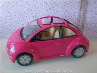 Genuine Fisher Price Loving Family Dollhouse VW Volkswagon Beetle Bug Car