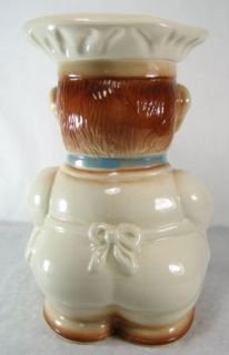 Vintage RRP Co Roseville 411 Chef Baker Cookie Jar