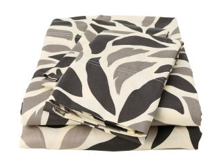 Elite Malaga Collection 100 Percent Cotton Sateen 4 Piece Sheet Set   Full Taupe/Black