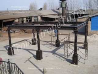 Massive Large Cast Iron Open Gazebo Structure Gazebo 5