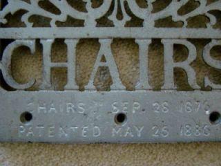 Antique Cast Iron Archer Barber Chair Foot Rest 1886