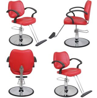 Salon Beauty Equipment Hydrualic Styling Chair Package 4 x SC 21RED