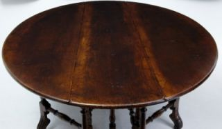 Large Berganza Foot Oak Gateleg Oval Dining Table