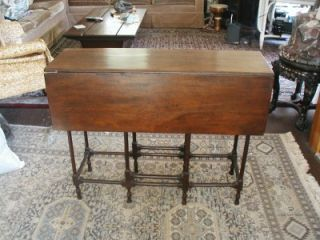 Antique Spider Gate Leg Table Drop Leaf