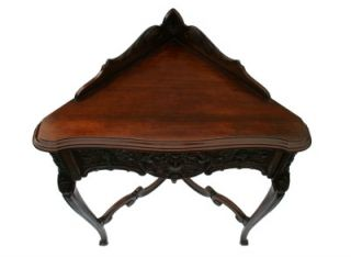 French Louis XV Style Mahogany Telephone Stand 1930s'