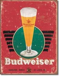 Budweiser Bud Beer Logo Retro Tin Sign Metal Poster