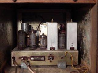 Vintage Nippon Columbia SW MW Tube Radio w Wooden Cabinet VA 530