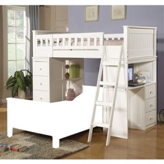 Willoughby Youth Kids Girls Boys Twin Loft Bunk Bed w Ladder White Finish New